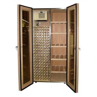 700 Two Door Oak WineandCigar Cooler Cabinet Wood Finish: Dark Walnut