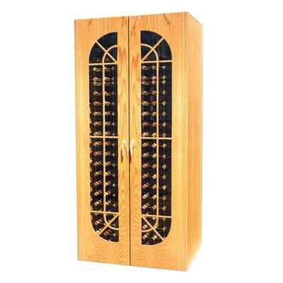 440 Monaco Oak Wine Cooler Cabinet With French Windows Wood Finish: Medium Walnut