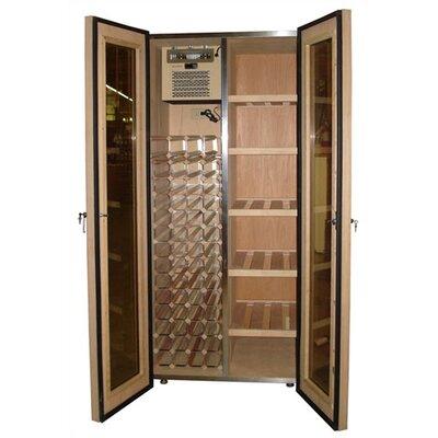 440 Two Door Oak WineandCigar Cooler Cabinet Wood Finish: Dark Cherry