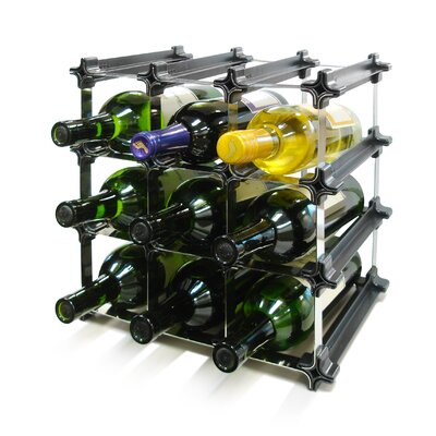 Epicureanist Snap and Stack Modular 9 Tabletop Wine Bottle Rack
