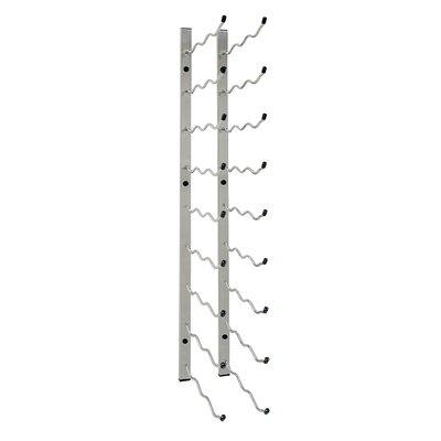 27 Bottle Wall Mounted Wine Rack Color: Nickel