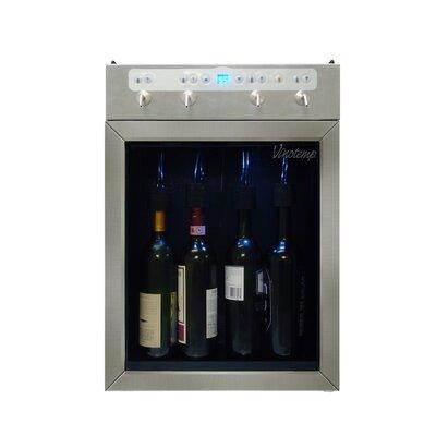 Vinotemp 4 Bottle Single Zone Wine Dispenser - Finish: Stainless Steel