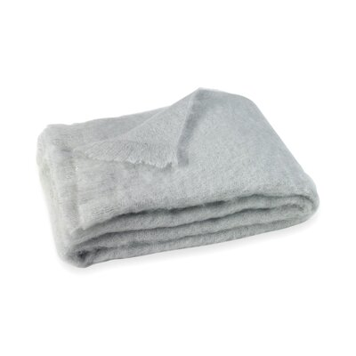 Brushed Mohair Throw Color: Silver image