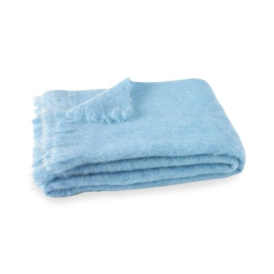 Brushed Mohair Throw Color: Sky Blue