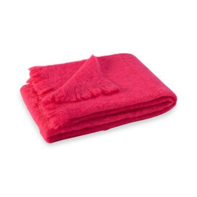 Brushed Mohair Throw Color: Hot Pink image
