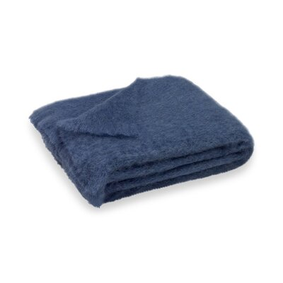 Brushed Mohair Throw Color: Indigo
