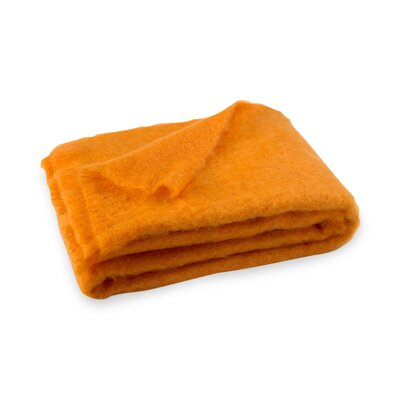 Brushed Mohair Throw Color: Mango image