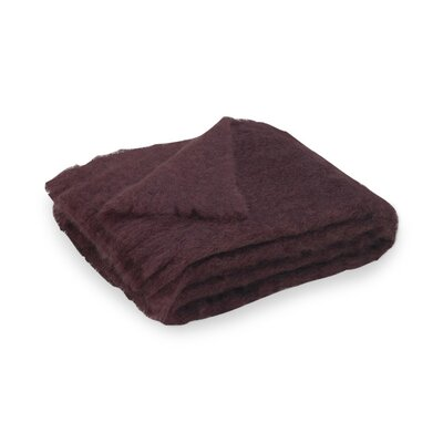Brushed Mohair Throw Color: Mulberry image