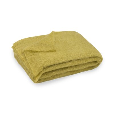 Brushed Mohair Throw Color: Mustard Seed image