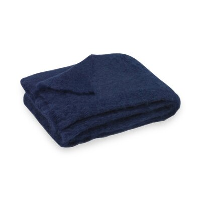 Brushed Mohair Throw Color: Navy image
