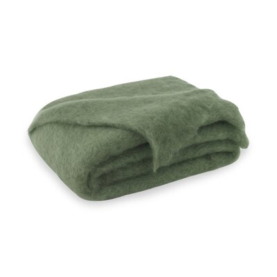 Brushed Mohair Throw Color: Olive Green image