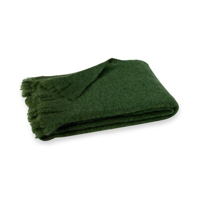 Brushed Mohair Throw Color: Pine