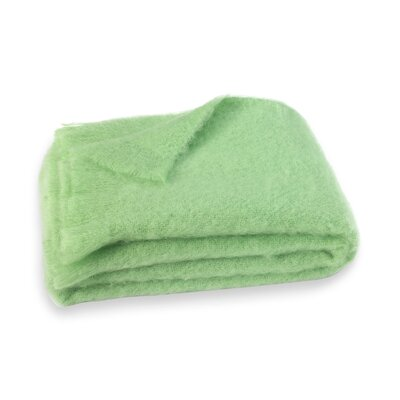 Brushed Mohair Throw Color: Pistachio Green