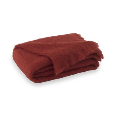 Brushed Mohair Throw Color: Russet