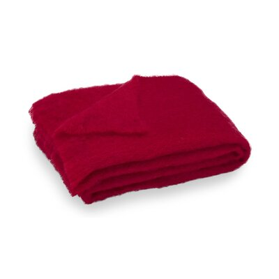 Brushed Mohair Throw Color: Scarlett image