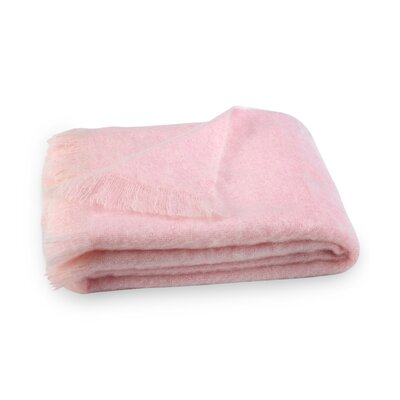 Brushed Mohair Throw Color: Cotton Candy image