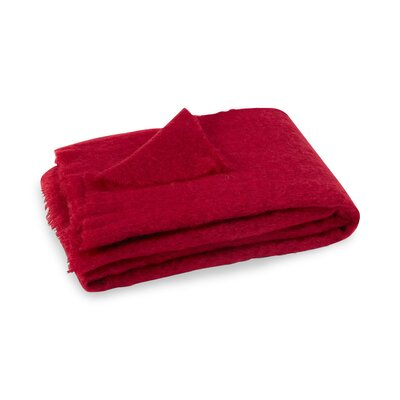 Brushed Mohair Throw Color: Cranberry image