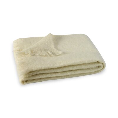 Brushed Mohair Throw Color: Cream image