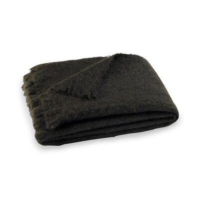 Brushed Mohair Throw Color: Dark Chocolate image