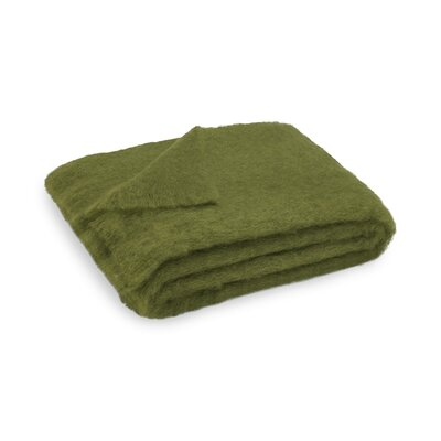 Brushed Mohair Throw Color: Fern image