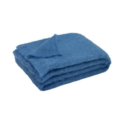 Brushed Mohair Throw Color: Lake Blue image