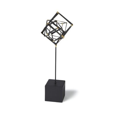 Tilted Cube Sculpture Size: Medium image