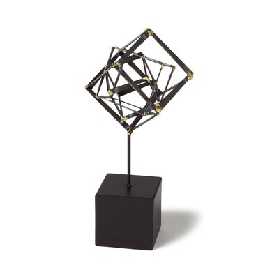 Tilted Cube Sculpture Size: Small image