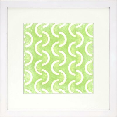 Graphic Pattern Lime Artwork Size: Large image