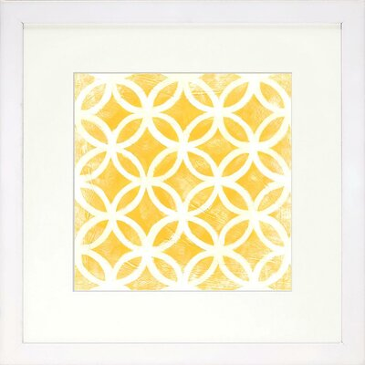 Graphic Pattern Citrine Artwork Size: Large image
