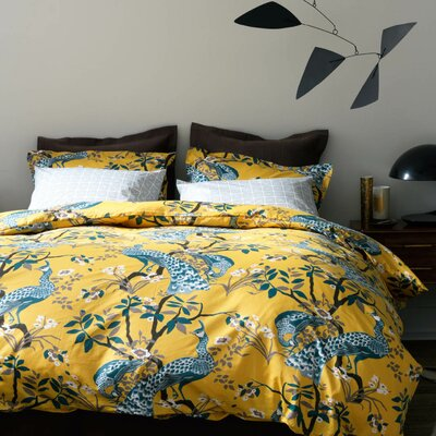 Peacock Citrine Duvet Cover image