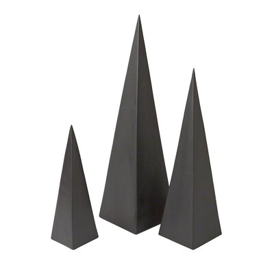 3 Piece Pyramid Objet Set