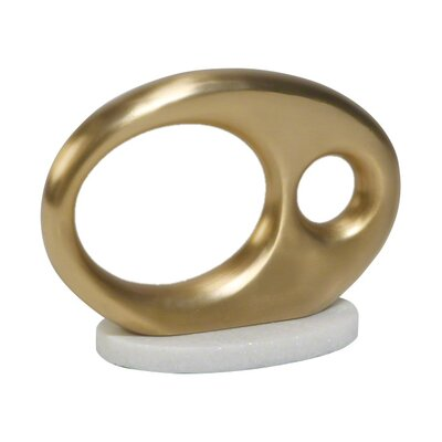 Oval Metal Objet Finish: Brass image