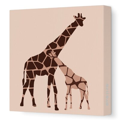 Graphic Giraffe Artwork Size: 28 x 28