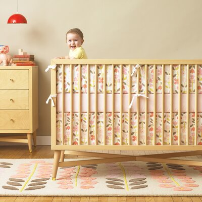 Rosette Nursery Bedding Collection-Rosette Bumper image