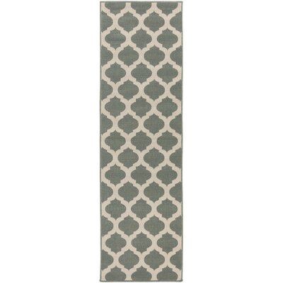 Pewter Outdoor Area Rug Rug Size: Runner 23 x 119