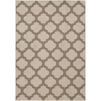 Alfresco Hand-Woven Beige / Taupe Outdoor Area Rug Rug Size: 9 x 6