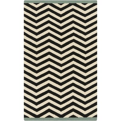 Chevron Ink Outdoor Rug Rug Size: Rectangle 12 x 9