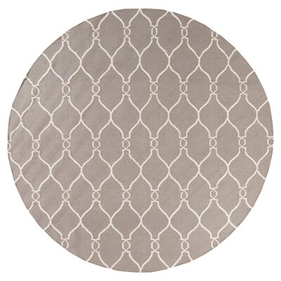 Marra Hand Woven Taupe Rug Rug Size: Round 8