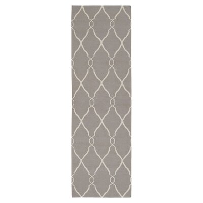 Hand Woven Taupe Rug Rug Size: Runner 26 x 8