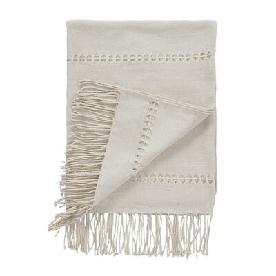Raw Silk Pearl Throw image