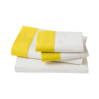 Modern Border Citrine Sheet Set Size: Queen