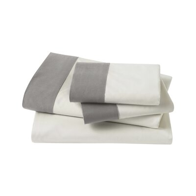 4 Piece Modern Border Sheet Set Size: King