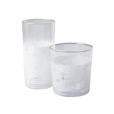 Crosshatch Drinking Glass Size: Tumbler
