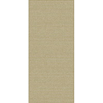 Mugal Ivory/Taupe Solid Area Rug Rug Size: Runner 26 x 10