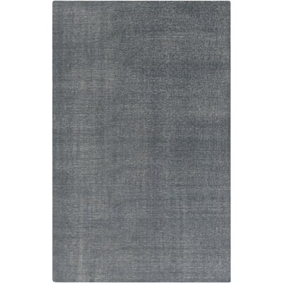 Molley Charcoal Solid Area Rug Rug Size: 2 x 3
