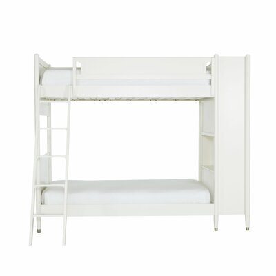 Mid-Century Youth White Library Bunk Bed