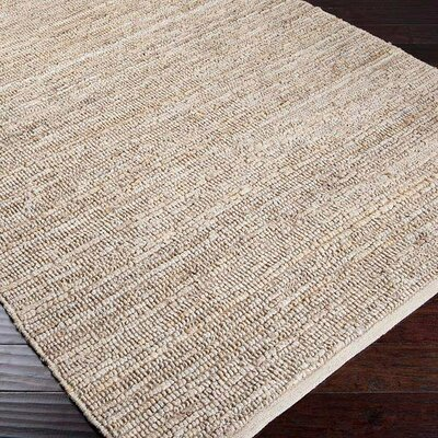 Hune Hand-Woven Antique White Area Rug Rug Size: 36 x 56