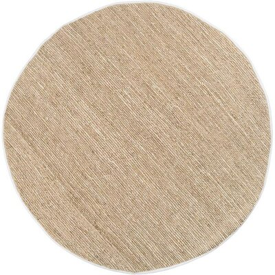 Hune Hand-Woven Antique White Area Rug Rug Size: Round 8