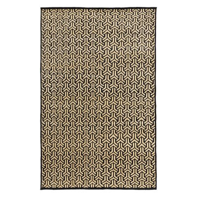 Paloma Hand Knotted Ink Area Rug Rug Size: Rectangle 6 x 9