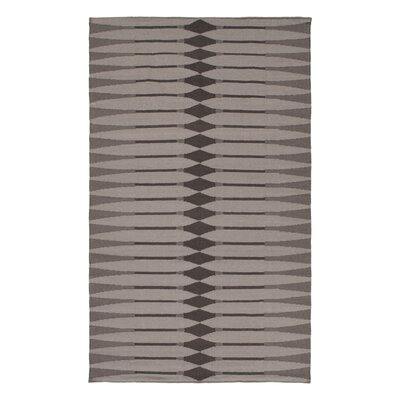 Anders Hand Woven Cotton Brown/Gray Area Rug Rug Size: Rectangle 4 x 6